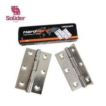 Bisagra de acero inoxidable para puertas de armarios, bisagra plana para ventanas, caja de madera, 2,5 pulgadas, 2 uds.