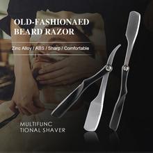 الرجال الحلاقة الحلاقة أدوات الحلاق سبائك الزنك للطي دليل الحلاقة سكين الوجه اللحية إصلاح سكين مزيل الشعر الحلاقة الحلاقة