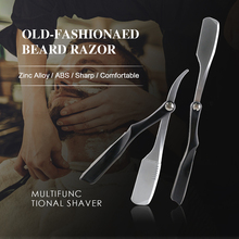 Men Shaving Razor Barber Tools Zinc Alloy Folding Manual Shaving Knife Facial Beard Repairing Knife Hair Remover Shaving Razor