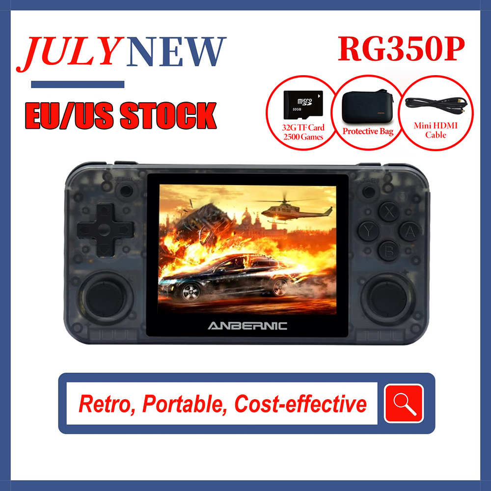 NEW RG350P ANBERNIC Retro Game Console 3 5inchIPS PC Matt Shell HDMI Video Game Player Portable Pocket Handheld Game Console
