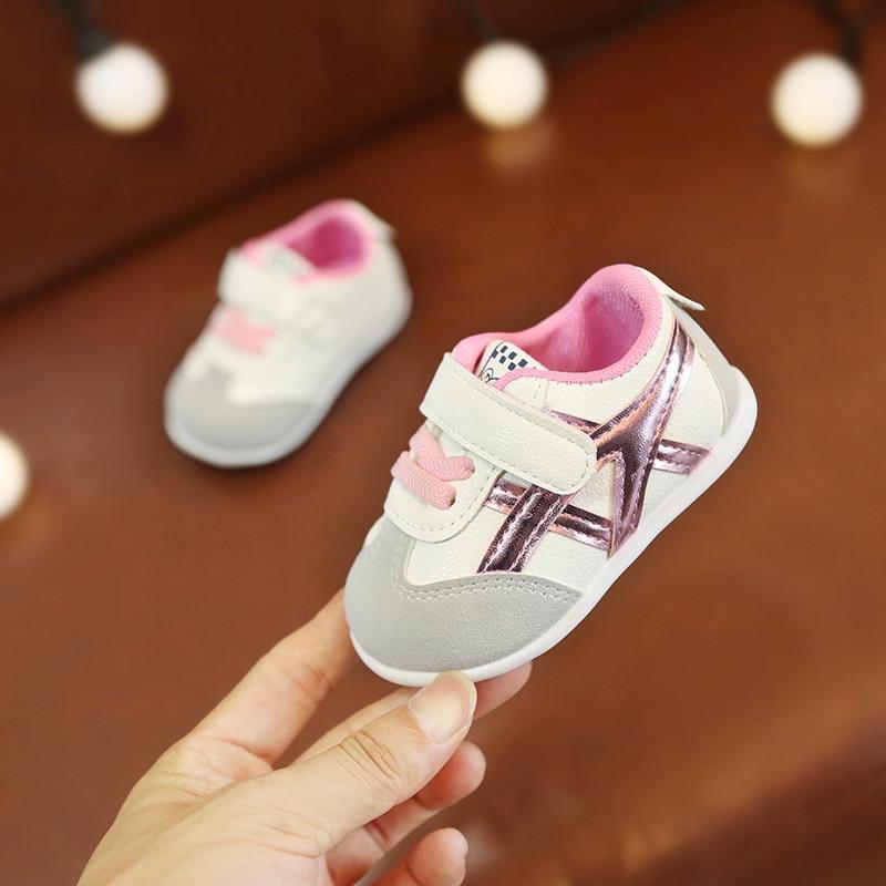 0 à 18 mois bébé garçons et filles chaussures enfant en bas âge chaussures de sport nouveau-né fond souple première marche chaussures de mode antidérapantes 1