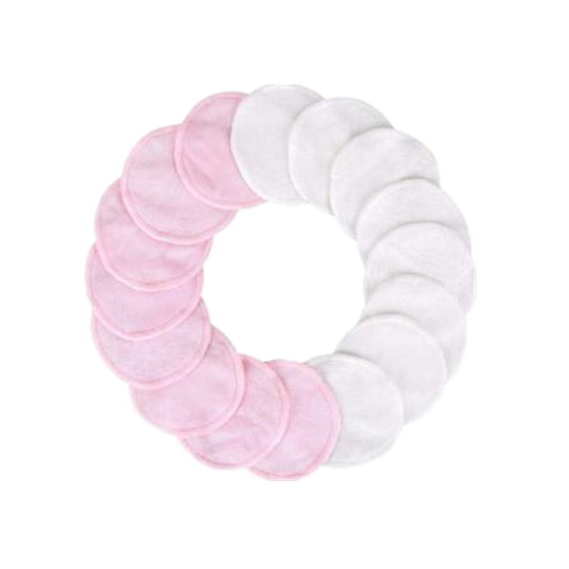Makeup Remover Pads 16pcs Washable Organic Cotton Rounds Toner Pads Facial Soft Cleansing Wipes with Laundry Bag 4