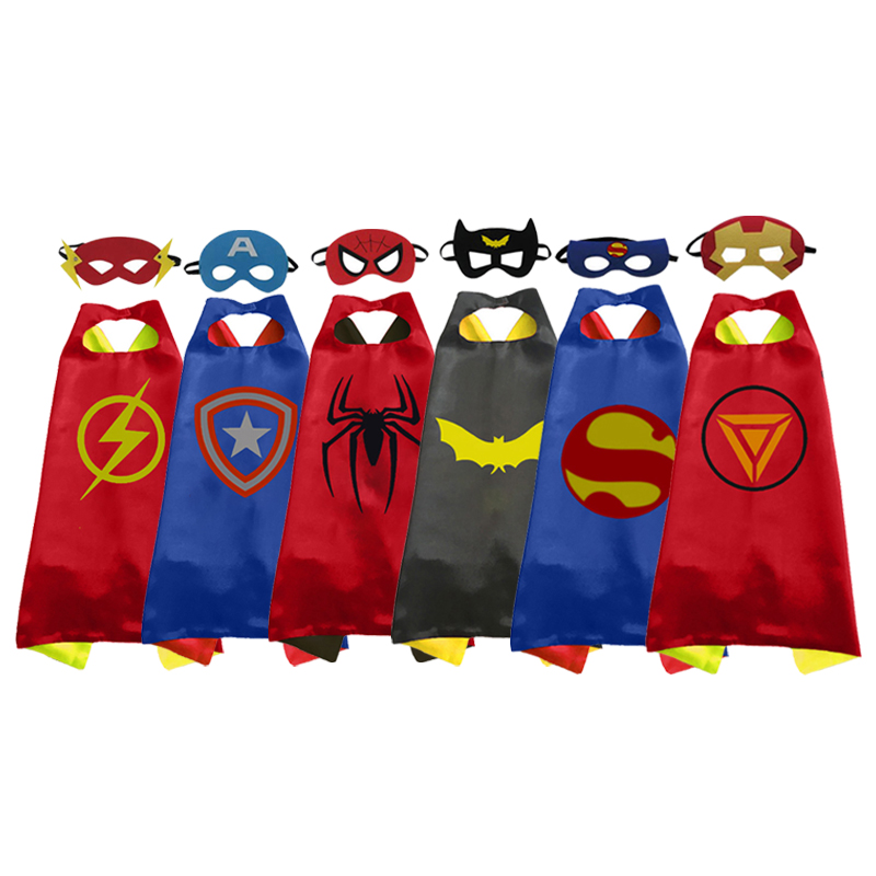 70*70cm Children Kid Wonder Woman Cape With Mask Super Hero Superhero Capes Mantle Cloak For Girl Boy Free Shipping