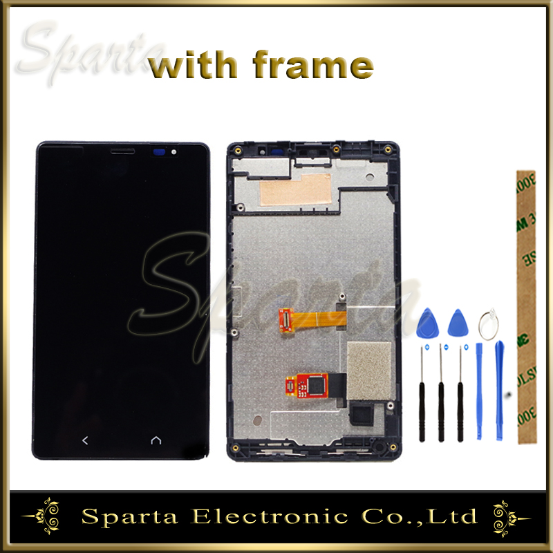 For <font><b>NOKIA</b></font> X2 Dual RM-<font><b>1013</b></font> RM-1014 X2DS LCD Display Screen With Touch Screen Sensor Complete Assembly With Frame image