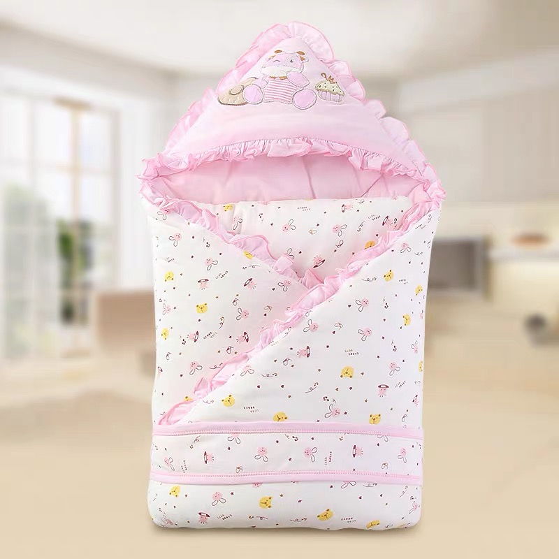 Cute Baby Anti-kick  Baby Sleeping Bag Cotton Baby Envelope Blankets Cartoon Newborn Swaddle Blanket Wrap