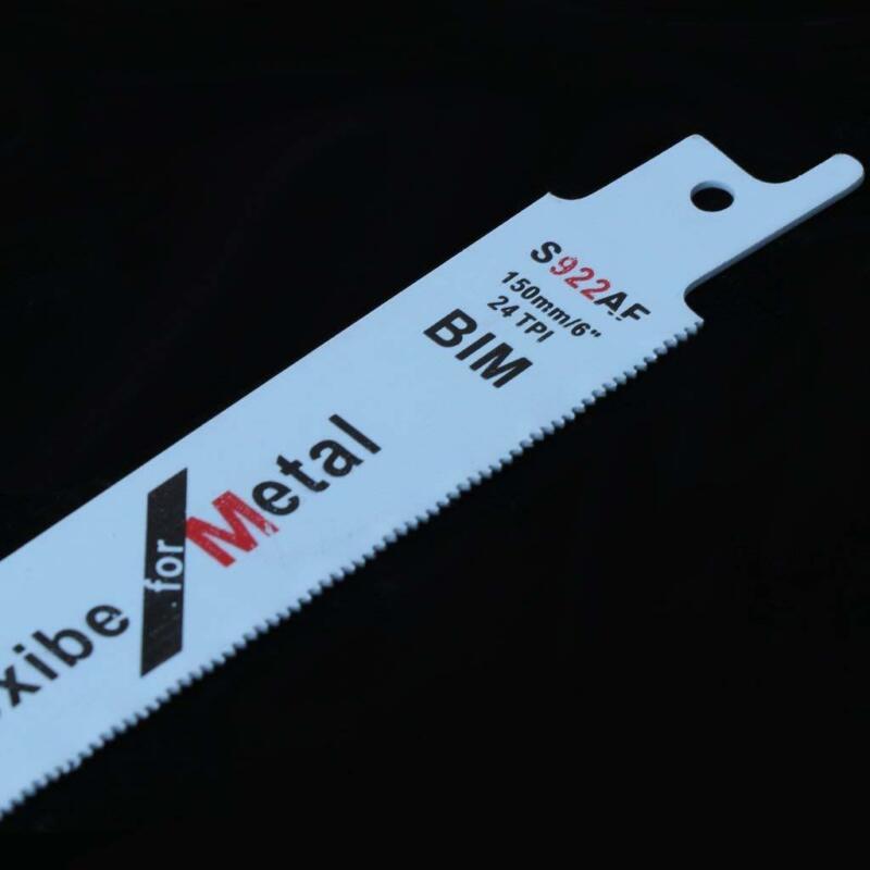Workshop 6 Inches 5pcs Saw Blades Wood Metal Pipe Cutting Power Tool BIM S-922AF