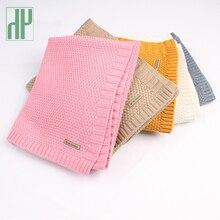 Детское одеяло, вязаные шерстяные одеяла для новорожденных, супер мягкий шарф для младенцев, пеленание для детей, материал для ежемесячных детских постельных принадлежностей
