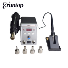 Eruntop 8586 8586 + 8586D + 858D 8858 fers à souder électriques + pistolet à Air chaud meilleur poste de reprise SMD amélioré 8586D