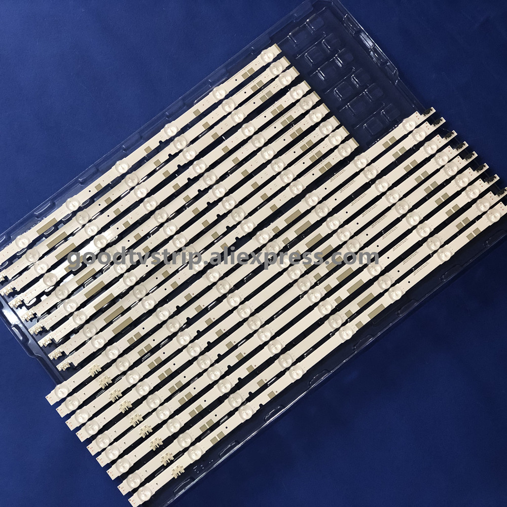 New 18 PCS/set LED Strip For Sam Sung UE55JU6800 UE55JU6800K V5DR_550SCA_R0 V5DR_550SCB_R0 BN96-38482A BN96-38481A