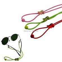 20pcs Elastic Kids Sun Glasses cord with adjustable button Dinosaur AntiSlip child Eyeglasses Strap Neck Cord