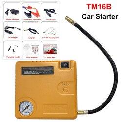 A + jakość TM16B urządzenie do uruchamiania awaryjnego samochodu przenośne przenośne źródło zasilania z zapalniczką Mini rozrusznik samochodu pompa powietrza 12V ładowarka samochodowa do wzmacniacz do akumulatora samochodowego