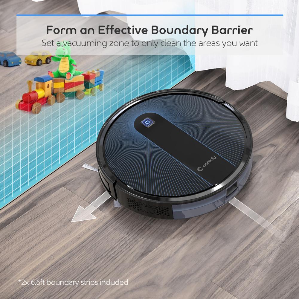Coredy 1400pa R300 R500 + Roboter staubsauger 1600pa R650 Smart Sauber Roboter Boden Teppiche Pet Haar Automatische staub Sweep reiniger - 5