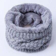 Лидер продаж Новая мода Зимний Шарф детский женский шарф теплый утолщенный бархат Обувь для мальчиков Обувь для девочек хлопок кольцо шарф для женщины мягкие и удобные