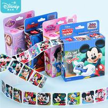 200Pcs/Box Disney Cartoon Stickers Removable Frozen Princess Mickey Sofia Sticker Girl Kids Children Teacher Reward Toys Gift