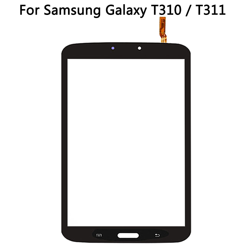 New <font><b>T311</b></font> Touchscreen For Samsung Galaxy Tab 3 8.0 <font><b>SM</b></font>-T310 <font><b>SM</b></font>-<font><b>T311</b></font> T310 Touch Screen Panel Digitizer Sensor front Glass No <font><b>LCD</b></font> image