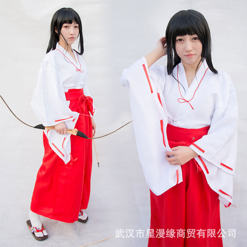 Xing Man Margin Inuyasha Platycodon Grandiflorum COS Clothes Witch COS Costume Bow And Arrow Cosplay Clothing