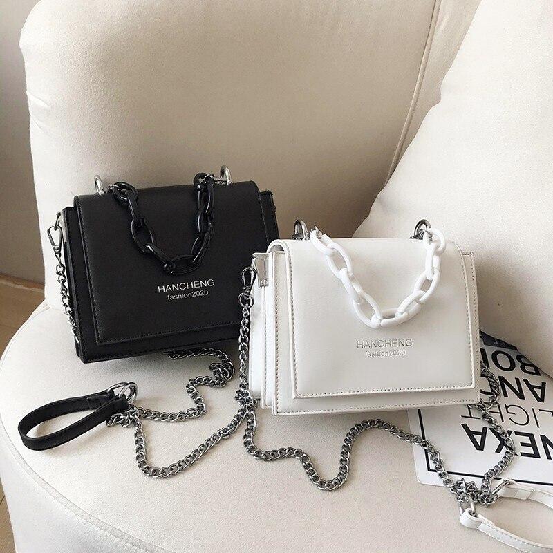 Impression rose net red small bag women's bag 2021 summer new trendy small fresh slung versatile white