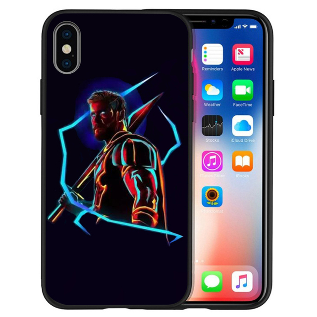 Avengers DC Spider-Man for iPhone 11 Pro Cover Xr Xs Max X 6 6S Plus 5 5S SE TPU For iphone 7plus phone case Black Silicone