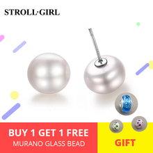 2017 New Arrival 925 Sterling-silver-jewelry Freshwater Pearl Earring For Women Prarl Silver Accessories Stud
