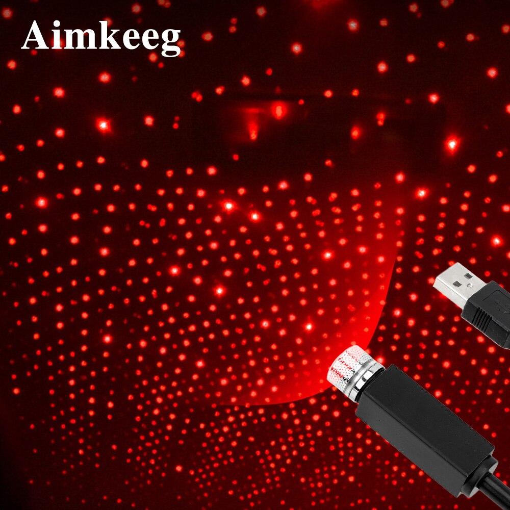 Mini Led Estrela Laser Projetor Luz Usb Carro Dj Efeitos De Discoteca Luzes Ambient Night Lamp Ano Novo Decorações De Natal Para Casa