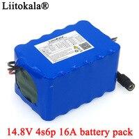 Liitokala 14 8 V 12Ah 4s6p 18650 li-iom akku nacht angeln Lampe heizung miner der verstärker batterien mit BMS