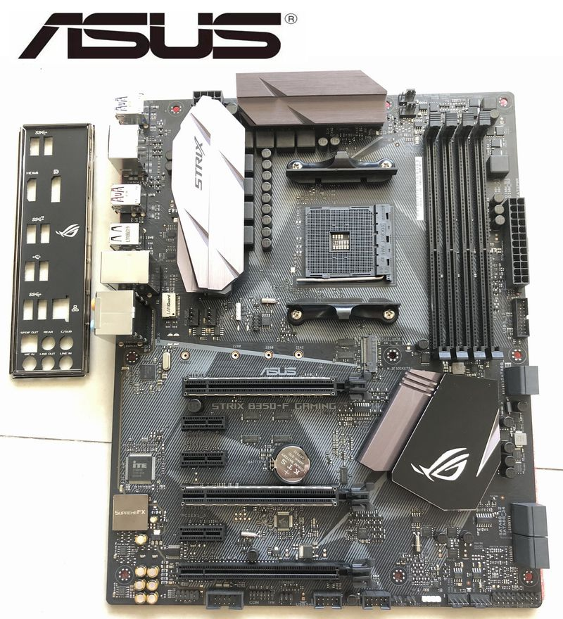 Desktop Motherboard Asus ROG STRIX <font><b>B350</b></font>-F GAMING Motherboard <font><b>AMD</b></font> <font><b>B350</b></font> socket AM4 support RYZEN 3700x used on sales image