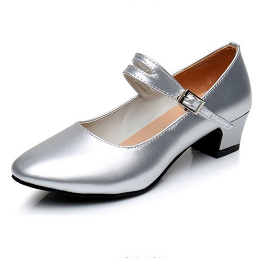 Ankle Strap Latin Dance Shoes For Women Professional Dancer Ballroom 3.5cm Heel Tango Salsa Soliid Lady's Shoes Size 34-42