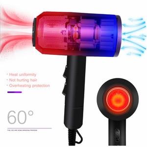 Image 3 - Secador de pelo profesional iónico de bajo ruido, viento frío/caliente, con cepillo, enchufe de 3200W, CA 220V