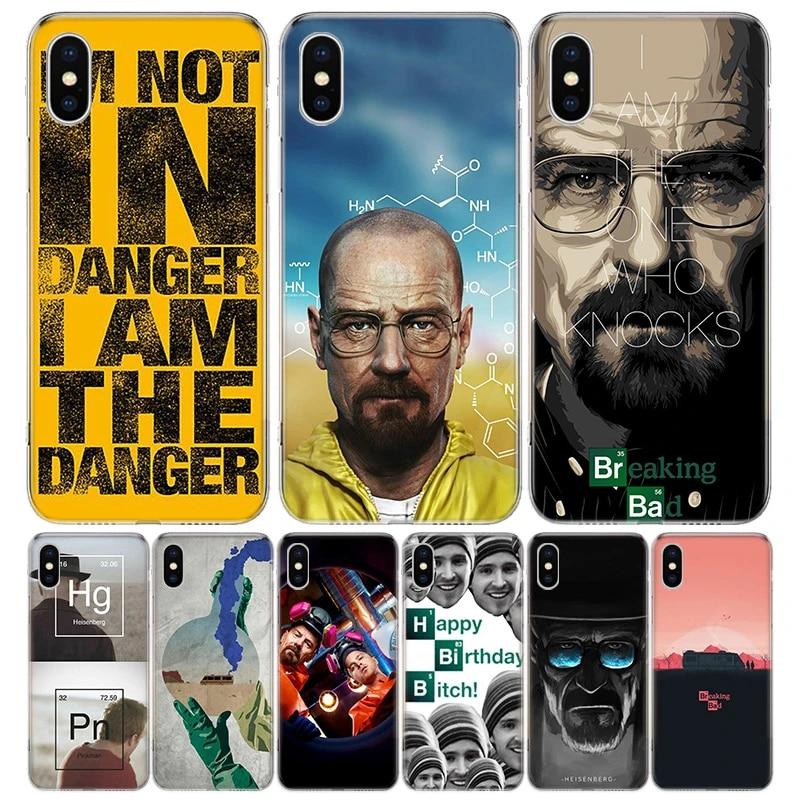 Heisenberg Breaking Bad Cover Phone Case For iPhone 11 12 Mini Pro 7 6 X 8 6S Plus XS MAX XR 5S SE 10 Ten Art TPU Coque Capa S