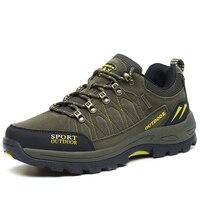 Taobo unisex caminhadas botas de combate do exército botas masculino deserto tático militar à prova vento tênis acampamento confortáveis sapatos esportivos