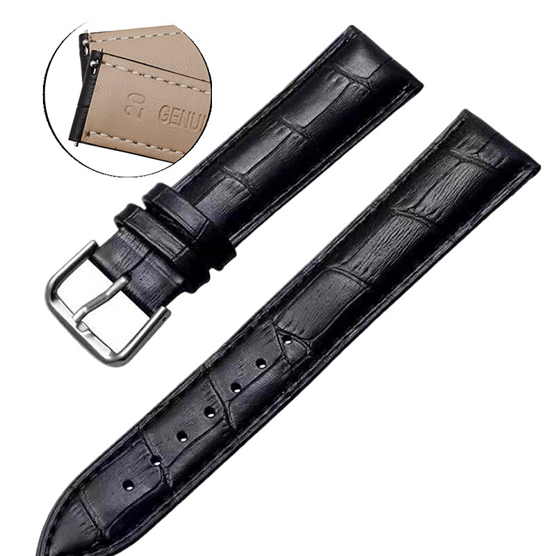 20mm 22mm Quick Release Leather Watch Band For Samsung Gear S3 Classic/Frontier Galaxy Watch 46mm 42mm Active 2 40mm 44mm Strap