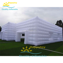 Manufacture hot sale giant big size white inflatable air outdoor party wedding event cube tent