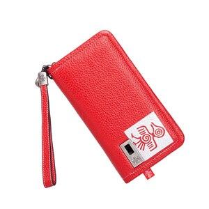 Image 2 - Orabird длинный женский кошелек, 100% натуральная кожа, сумка для денег, дневной клатч, сумки с отделением для карт, стандартные Модные женские кошельки для телефона
