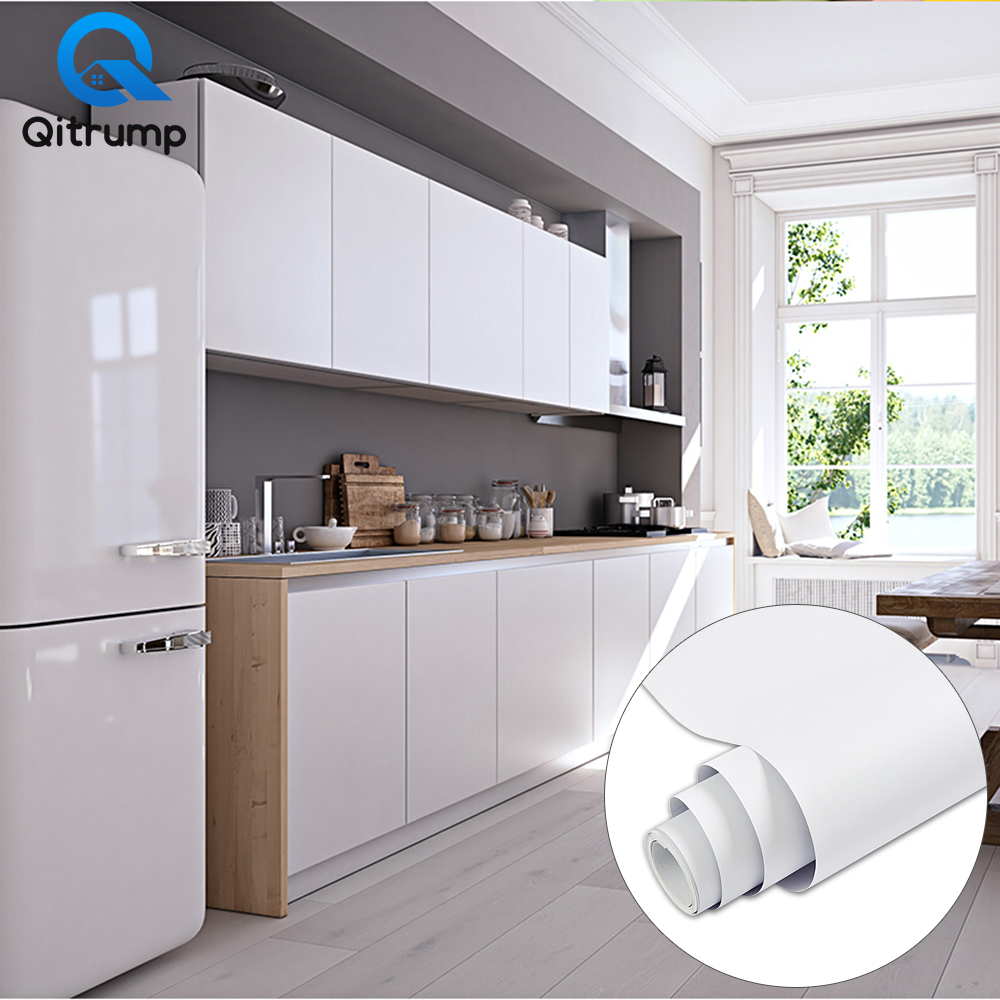 Waterproof Solid Color Wallpaper PVC Self Adhesive Wall Papers Bedroom Living Room Kitchen Cabinets Furniture Renovation Sticker