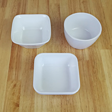 Free shipping. A5 Melamine tableware. bowl. This paragraph is flat bottomed square ring shaped melamine products.