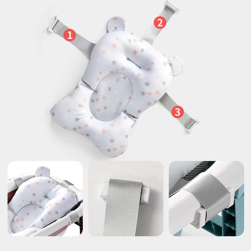 Yenidoğan bebek banyo yastık katlanabilir banyo oturağı için destek matı küvet güvenlik güvenlik yumuşak kaymaz bebek bebek duş küvet pedi