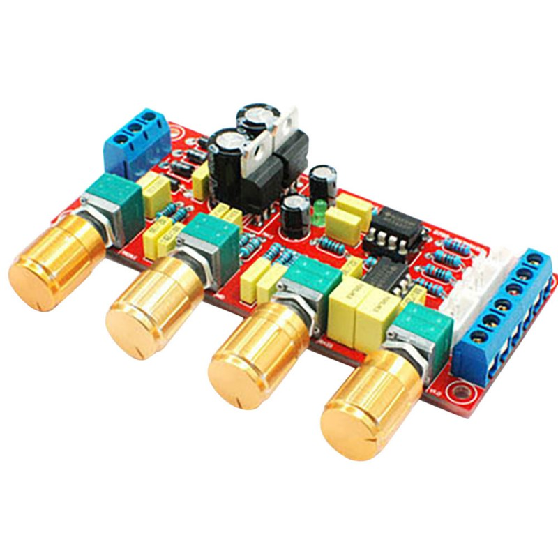 NE5532 OP-AMP HIFI Amplifier Preamplifier Volume Tone EQ Control Board DIY KIT And Finished Product