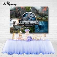 InMemory Jurassic Park Dinosaur Party Backdrops For Photography Boys Birthday Party Backdrops Photo Studio Decoration Banner