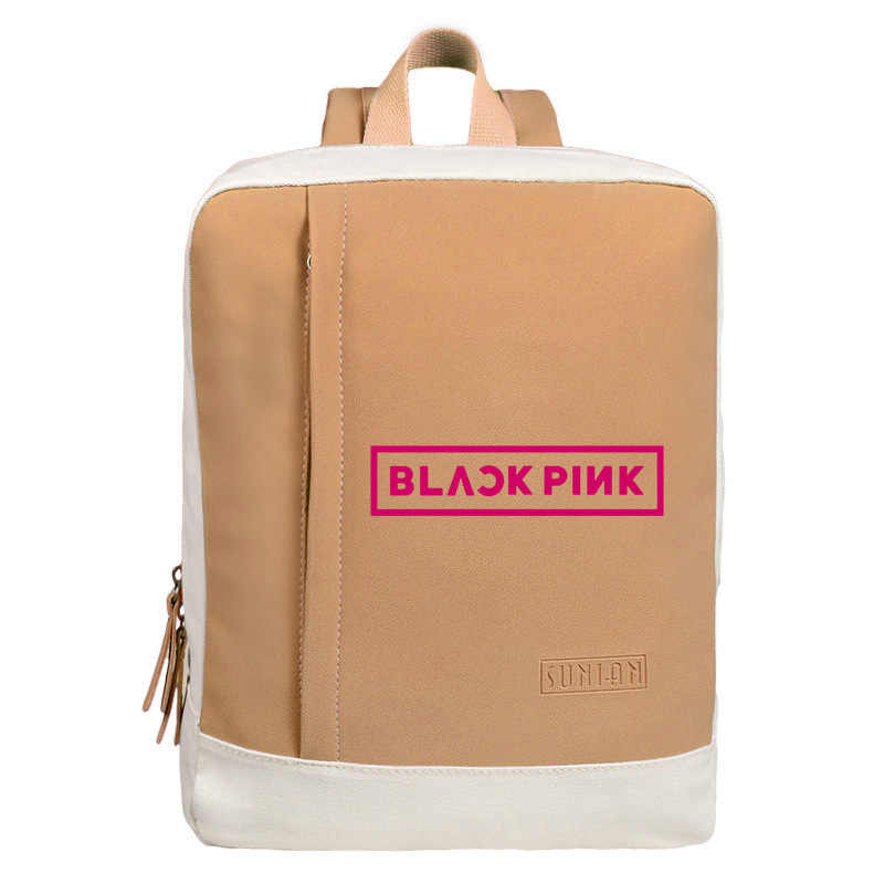 Cute Kpop blackpink Canvas backpack fashion hangbag schoolbag back to school bag Kpop blackpink supplies stationery set
