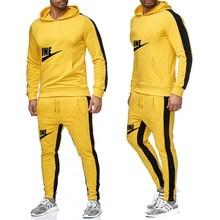 New Men% 27 худи спортивный костюм хлопок полиэстер шнурок спортивная одежда тренд мода осень и зима пуловер костюм