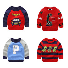 2019 Autumn Winter Knitted Sweater Children Clothing Boys Girls Sweaters Kids Cartoon Pure Cotton Pullover Clothes kids sweaters boys plaid sweaters children pullover autumn baby girls knitted top child heart turtleneck sweater winter clothes