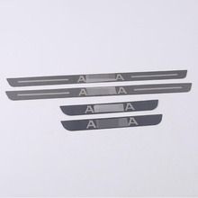 цена на 4PCS Car Door Sills Scuff Plates Stainless Steel Pedal Trim Guard Protector For Nissan Teana 2019 Car Sticker Styling