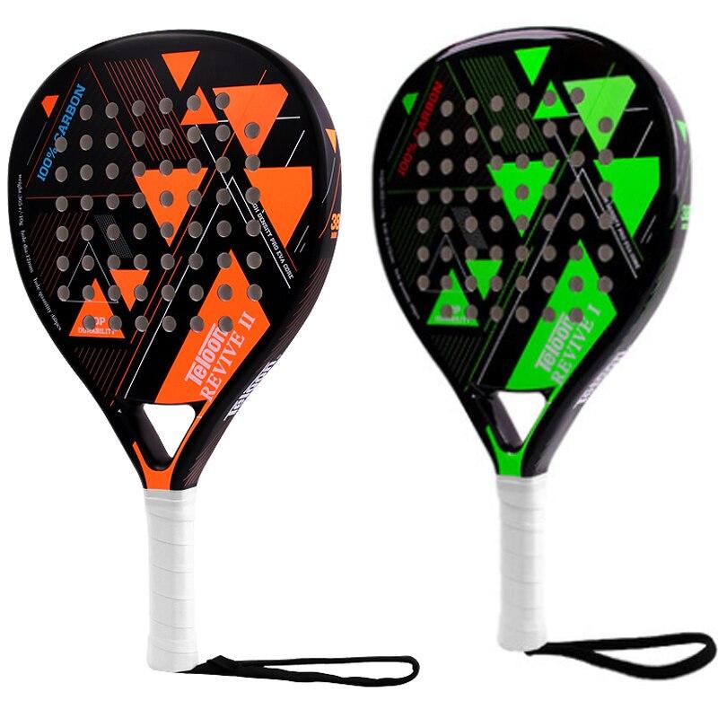 Raquette de Tennis Teloon raquette de plage raquette de Tennis en Fiber de carbone avec surgrip EVA visage femmes hommes raquettes de batte de Cricket