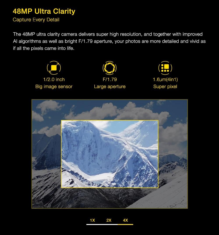"H4aac02ef401242088683152dd5b1495cp UMIDIGI Power 3 Android 10 48MP Quad AI Camera 6150mAh 6.53"" FHD+ 4GB 64GB Helio P60 Global Version Smartphone NFC Pre-sale"