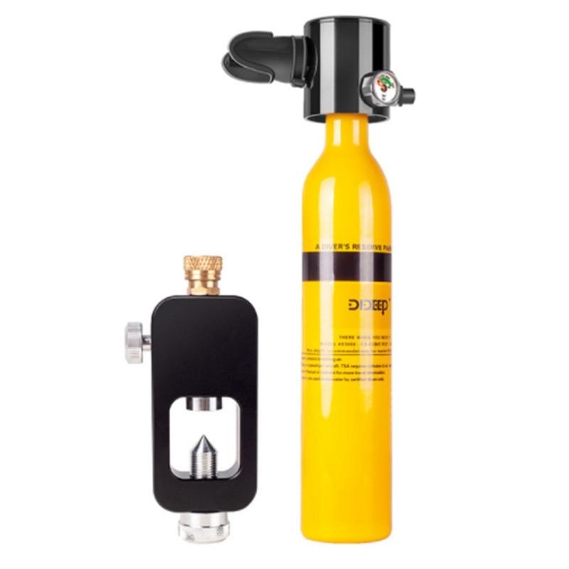 DIDEEP Scuba Oxygen Cylinder Diving Air Tank Scuba Regulator Diving Respirator With Gauge Snorkeling Breathing Equipment