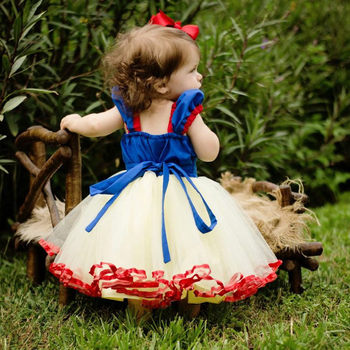 Pierwsze pierwsze urodziny Party Girl Dress 1-5 lat śnieg biała sukienka księżniczki up niemowlę suknia do chrztu dzieci maluch dziewczyna ubrania tanie i dobre opinie NNJXD Stałe Krótki REGULAR Śliczne Łuk Pasuje prawda na wymiar weź swój normalny rozmiar Baby Boutique Dress polyester viscosse