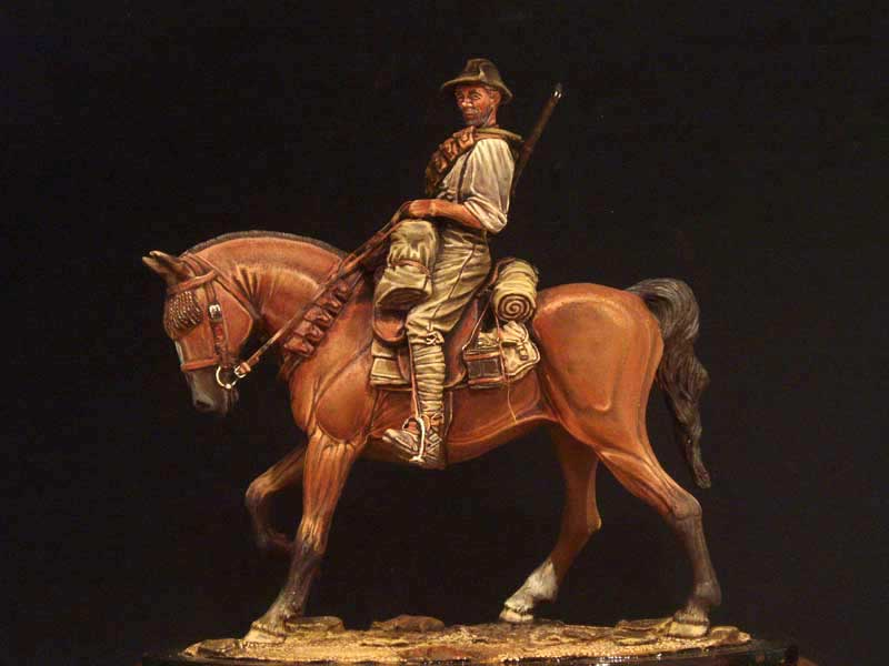 1/18 90mm  Ancient Warrior With Horse (WITH BASE )Resin Figure Model Kits Miniature Gk Unassembly Unpainted