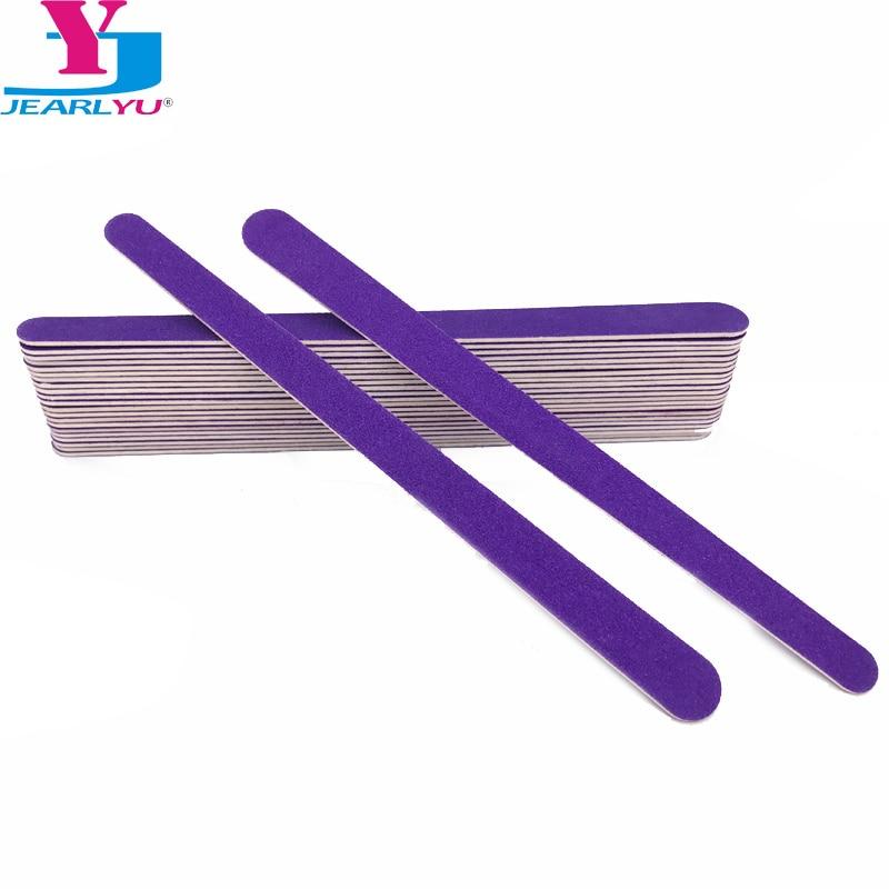 Профессиональные пилки для дизайна ногтей 20 шт./лот, шлифовальная деревянная пилка для ногтей, 180/240 наждачная бумага, абразивные Типсы для м...