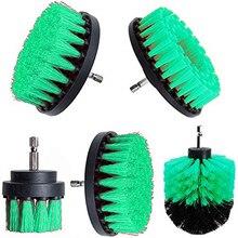 2 3,5 4 5 pulgadas cepillo de limpieza de taladro cabeza redonda limpiador eléctrico almohadilla rígida para azulejos de baño herramienta de limpieza Scrub, Verde