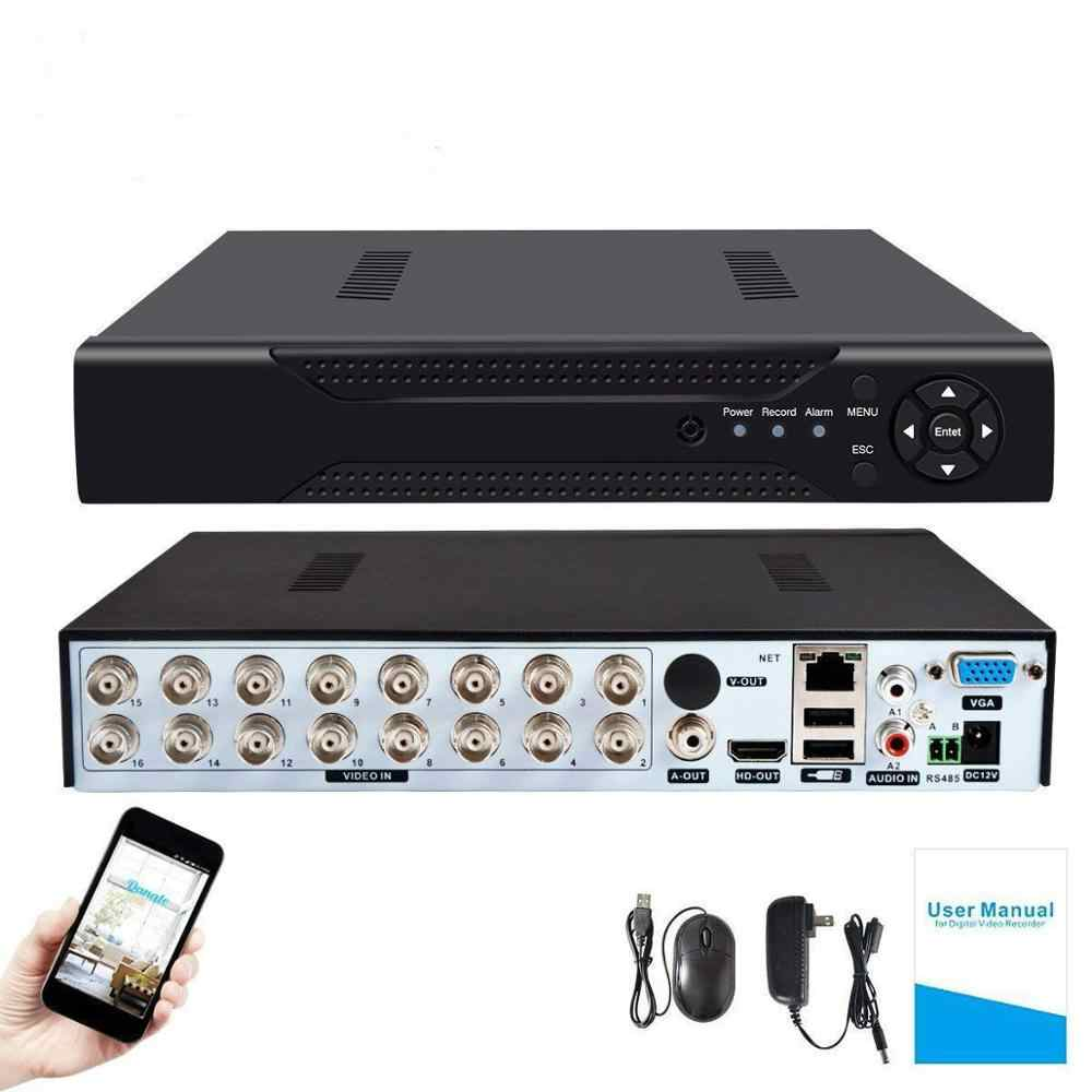 4CH/8CH/16CH Keamanan AHD DVR CCTV H.264 5MP/4MP AHD CVI TVI Analog IP Camera5 5MP 4.0MP Hybrid Perekam Video Output Video 4K